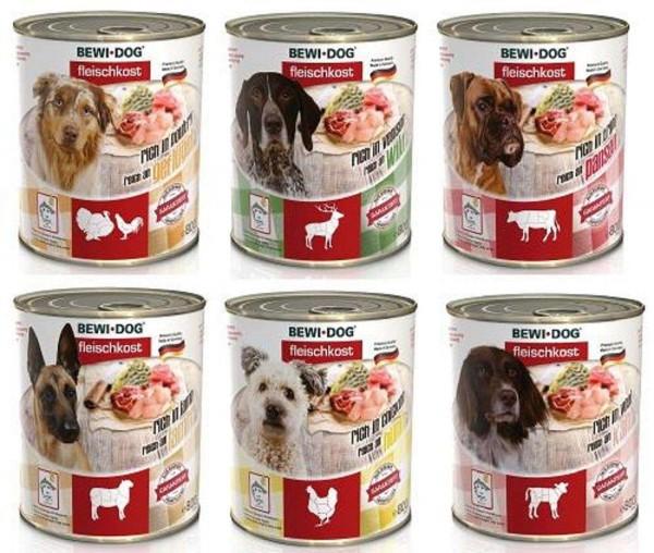 Fleischkost von BEWI DOG